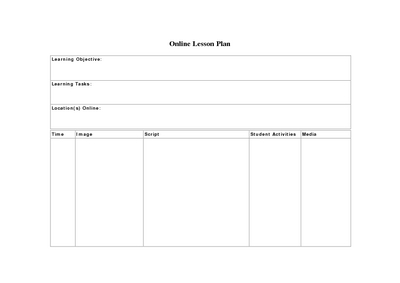 Lesson Plan Template Online Pasoevolistco - Lesson plan template doc