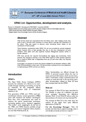 Opac 20 opportunities development and analysis e lis repository english abstract stopboris Gallery