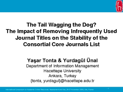 The Tail Wagging The Dog The Impact Of Removing Infrequently Used