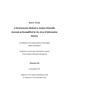 Science master thesis