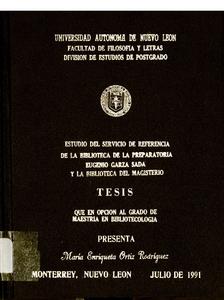 Librarianship thesis